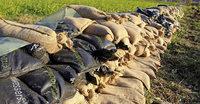 800 Sandsäcke sorgen für Sicherheit