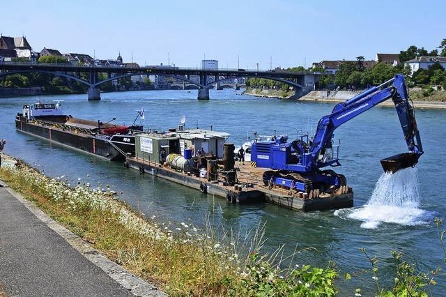 Chirurgischer Eingriff in den Rhein