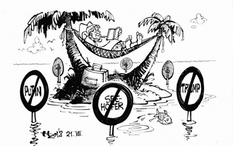 Reif für die Insel ZEICHNUNG: HAITZINGER
