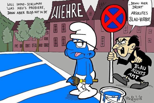 Absolutes Schlumpfblau-Verbot in der Wiehre