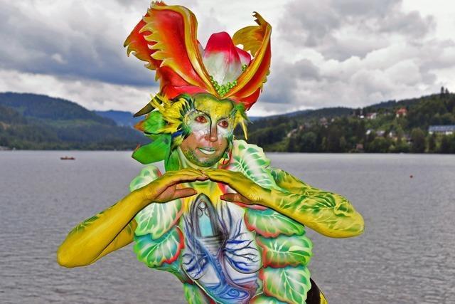 Fotos: Bunte Körper beim Bodypainting-Festival am Titisee