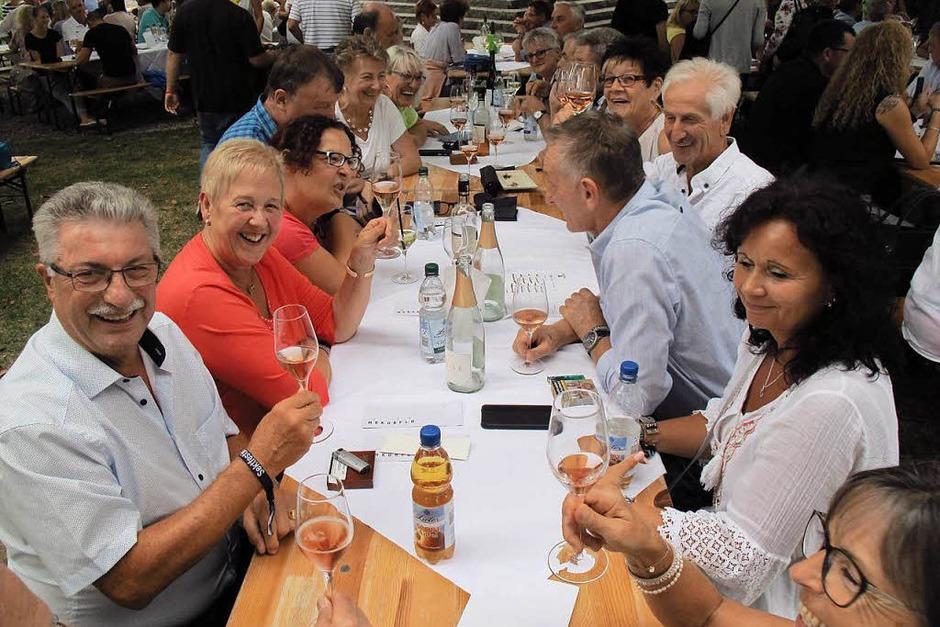 Sektfestival 2018 - gut gelaunte Gäste. (Foto: Jutta Schütz)