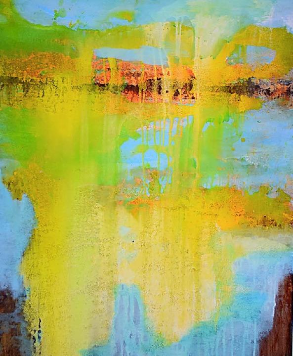 Eines der Werke von Roswitha Vallendor im Winzerhof   | Foto: Repro: Nöltner