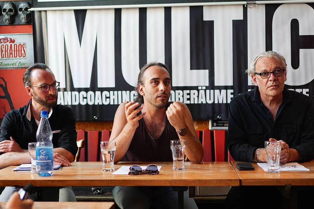 Rainer Rieckmann, Ben Krahl und Franck... von Multicore (von links nach rechts)  | Foto: Simon Langemann