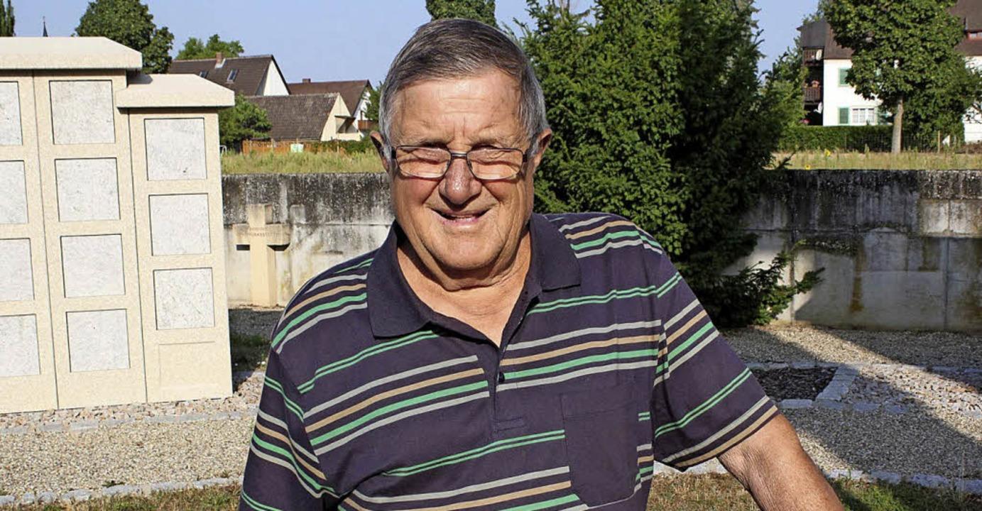 Auch mit 80 Jahren weiterhin  als Frie...im am Rhein aktiv: Hubert Ritzenthaler  | Foto: Otmar Faller
