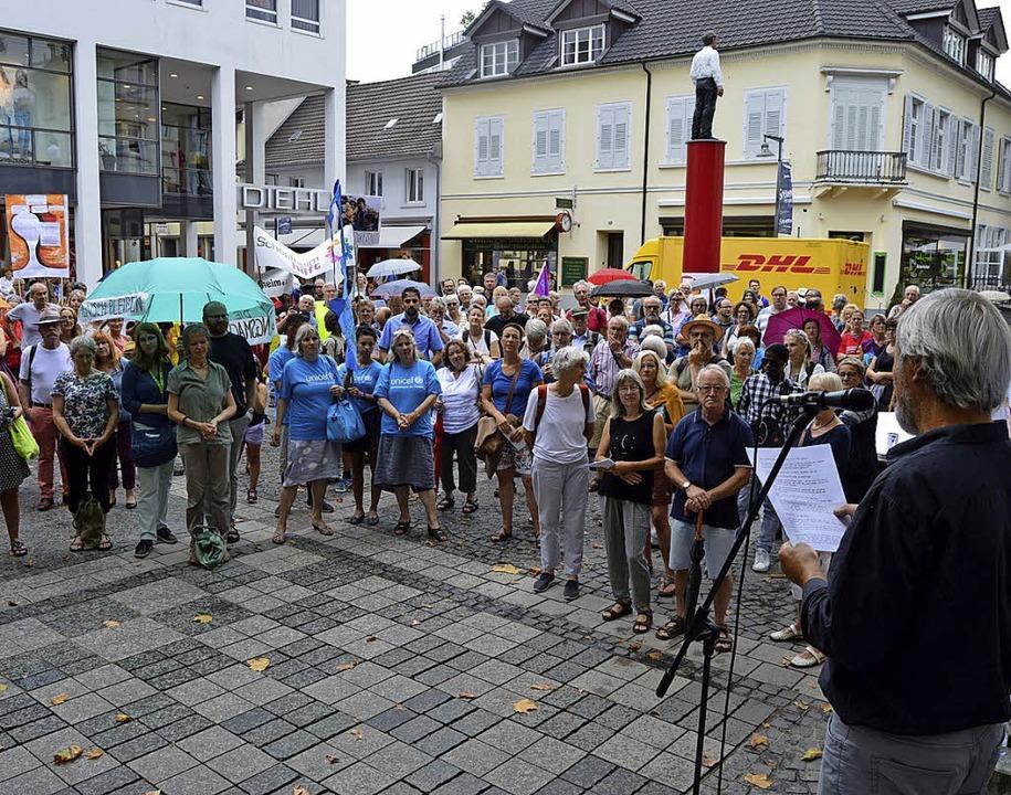 demo fluechtlingspolitik lörrach  | Foto: Zettler