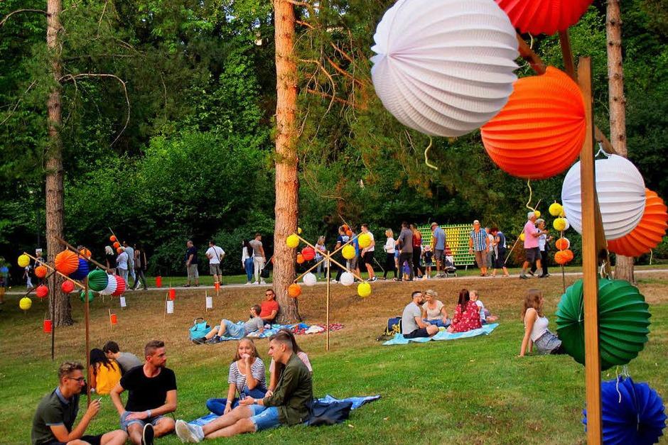 Lichterfest 2018 im Kurpark Bad Bellingen (Foto: Jutta Schütz)