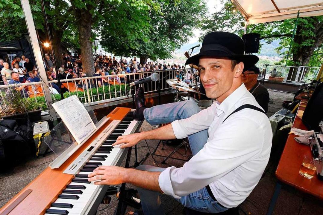Pianist Mark Wunderlich vom Boogie Project im Kastaniengarten  | Foto: Thomas Kunz