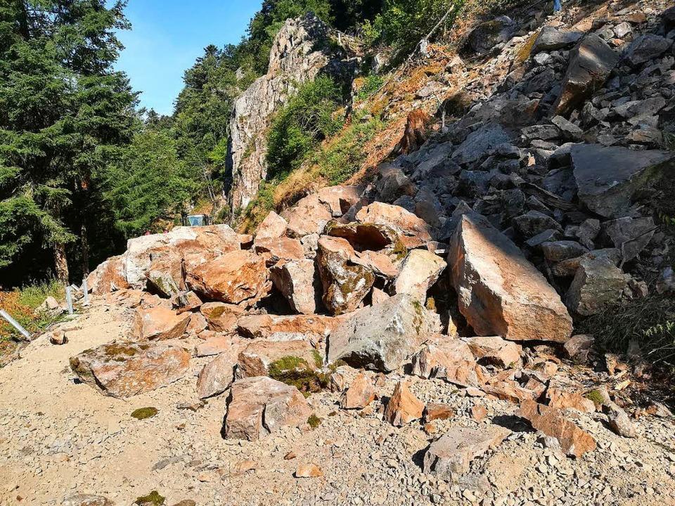 Als überaus umfangreich stellten sich die Felsräumungen an der L 131 heraus.  | Foto: Landratsamt Breisgau Hochschwarzwald