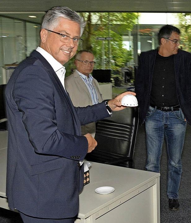 Geschäftsführer Michael Medweth, hier ...ie Zukunftssicherung des Unternehmens.  | Foto:  Vollmar
