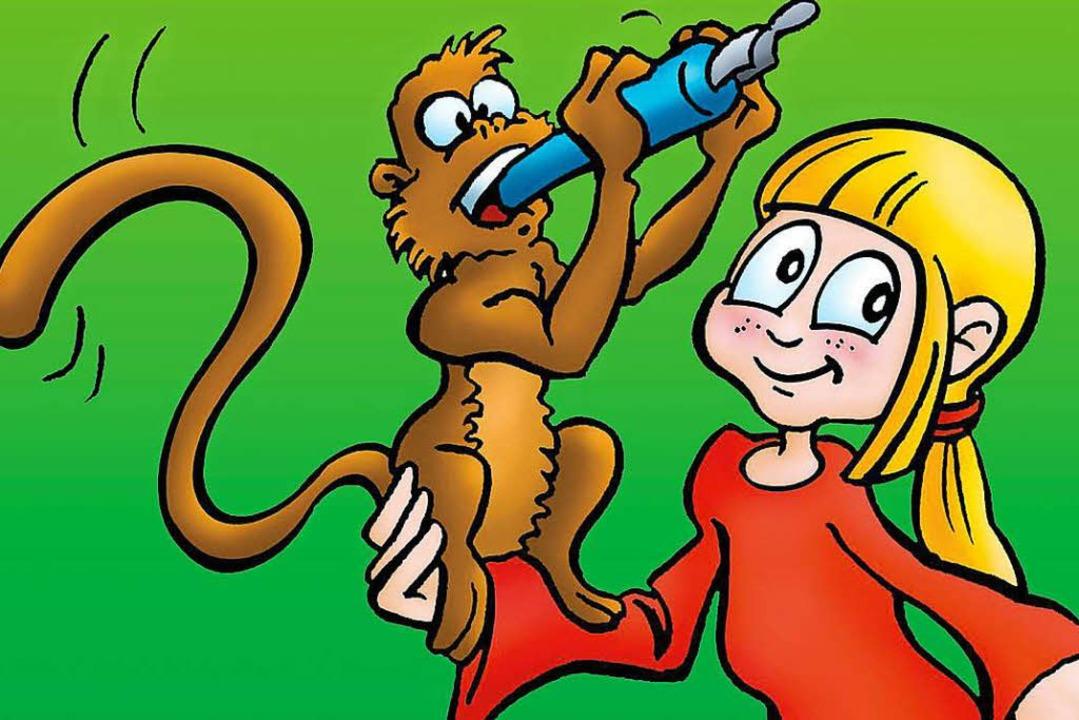 Im riesigen Exotenhaus bewegen sich Tiere, etwa Affen, frei.  | Foto: Badische Zeitung