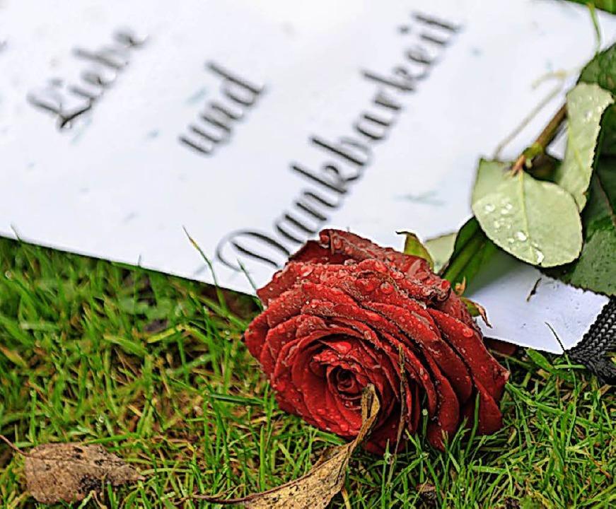 Die Rose steht für Liebe.  | Foto: dpa
