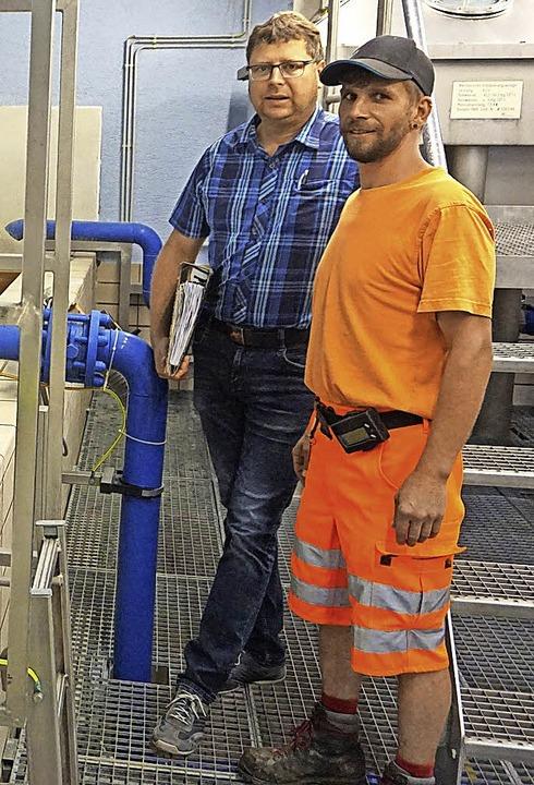 Die Wasserversorgung  steht auf guten ...rtretende Wassermeister Jürgen Maier.   | Foto: Werner Steinhart