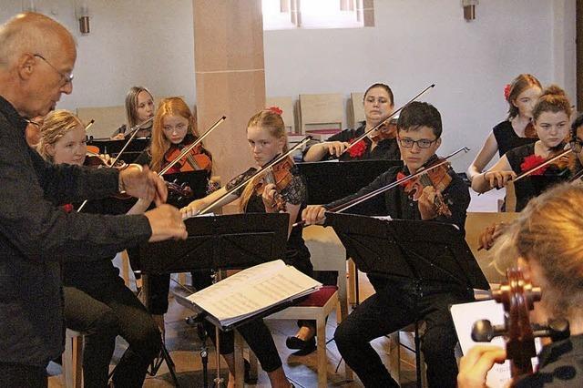 Junge Musiker auf Europatournee