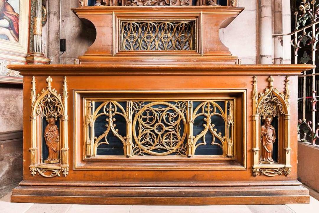 Vom Annenaltar wurde im vergangenen Frühjahr eine Paulus-Figur gestohlen.  | Foto: Münster