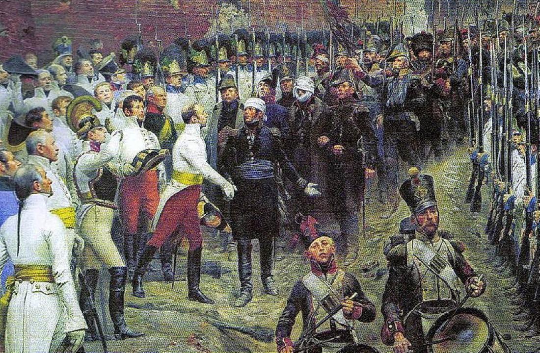 In seinem Gemälde hielt  Edouard Détai...Befreiungshalle  in Kelheim zu sehen.   | Foto: Archiv Spachtholz
