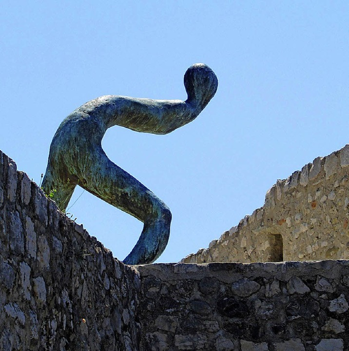 "Henk Vischs Skulptur ""Du livre du matin""      Foto: dpa"