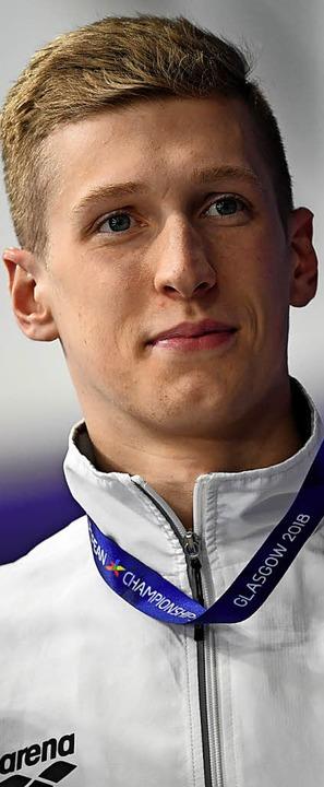 Europameister über 1500 Meter: Florian Wellbrock  | Foto:  afp