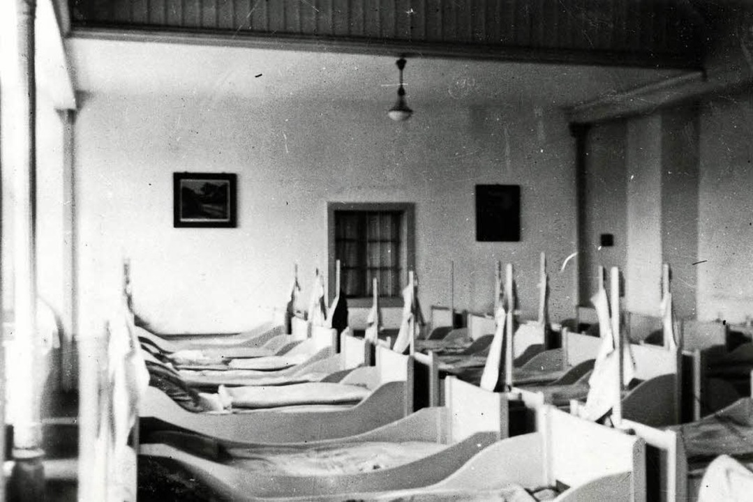 Schlafsaal im KZ Kislau    Foto: Generallandesarchiv