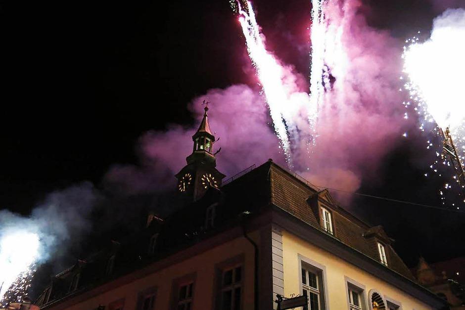 Die Krönung des Festakts: Das Feuerwerk (Foto: Georg Voß)