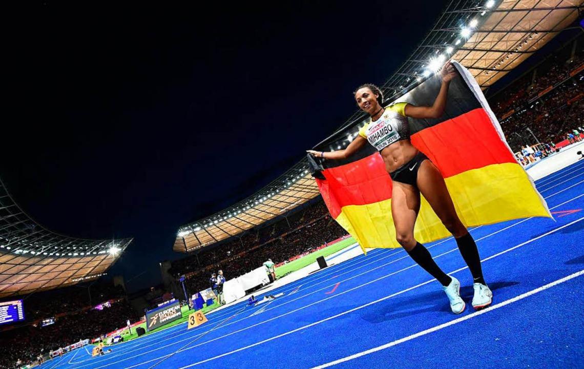 Ehrenrunde im Olympiastadion  | Foto: AFP