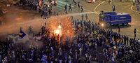 Gewalt bei Massenprotesten in Bukarest