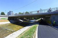 Dreisamuferradweg wird am Dienstag wieder geöffnet - aber nur vorübergehend