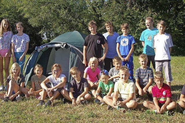20 Kinder erleben Abenteuer in Nordschwaben