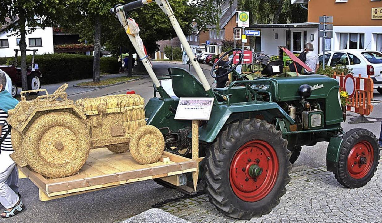 Der Zapfwellenverein besuchte mit liebevoll restaurierten Traktoren das Fest.  | Foto: Stefan Pichler