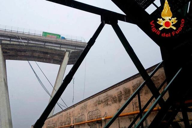 Mindestens 35 Tote bei Einsturz von vierspuriger Autobahnbrücke in Genua