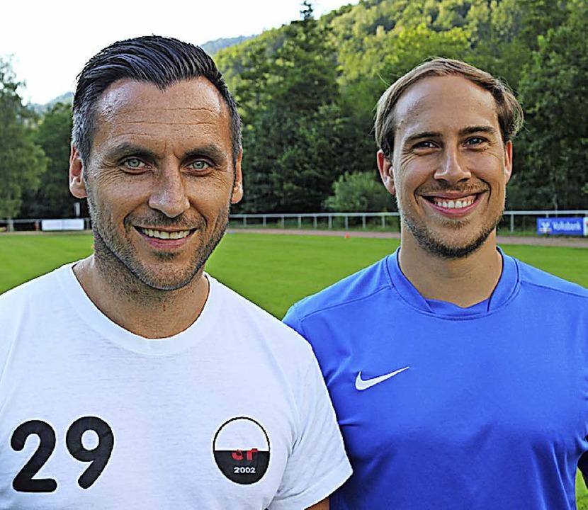 Das Trainer-Duo Achim Thoma und, neu a...te, Co-Trainer Moritz Hübner (rechts).  | Foto: Karin Heiß