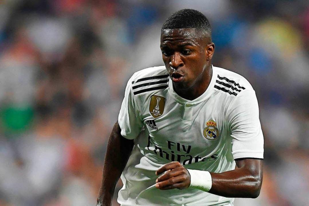 Top-Talent bei Real Madrid: der erst 18 Jahre alte Stürmer Vinicius Jr.  | Foto: AFP
