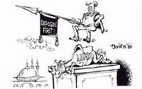 Türkisches Reiterstandbild