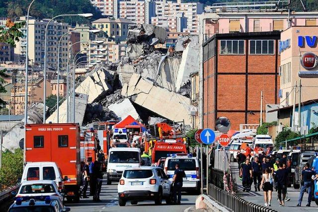 Wie ein Autofahrer den Brücken-Einsturz in Genua überlebt hat