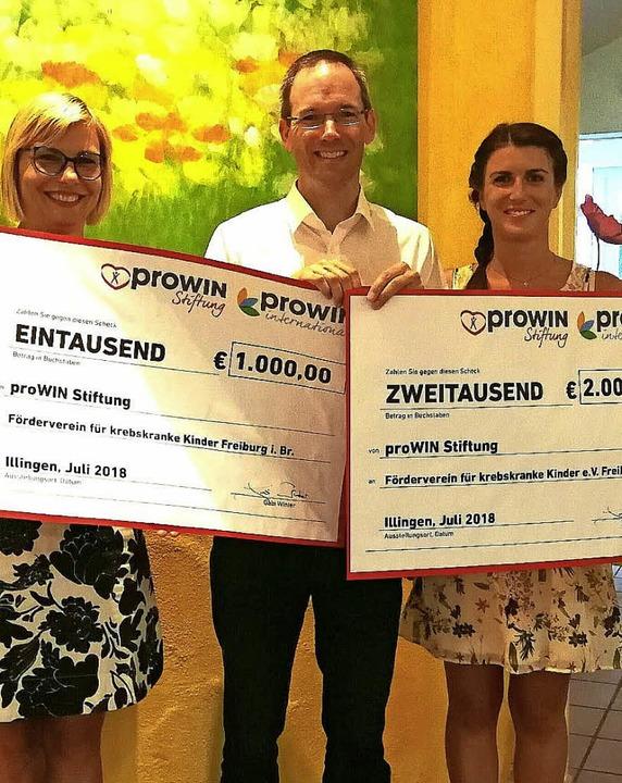 <BZ-FotoAnlauf>3000 Euro</BZ-FotoAnlau...rein für Kinderkrebshilfe in Freiburg.  | Foto: privat