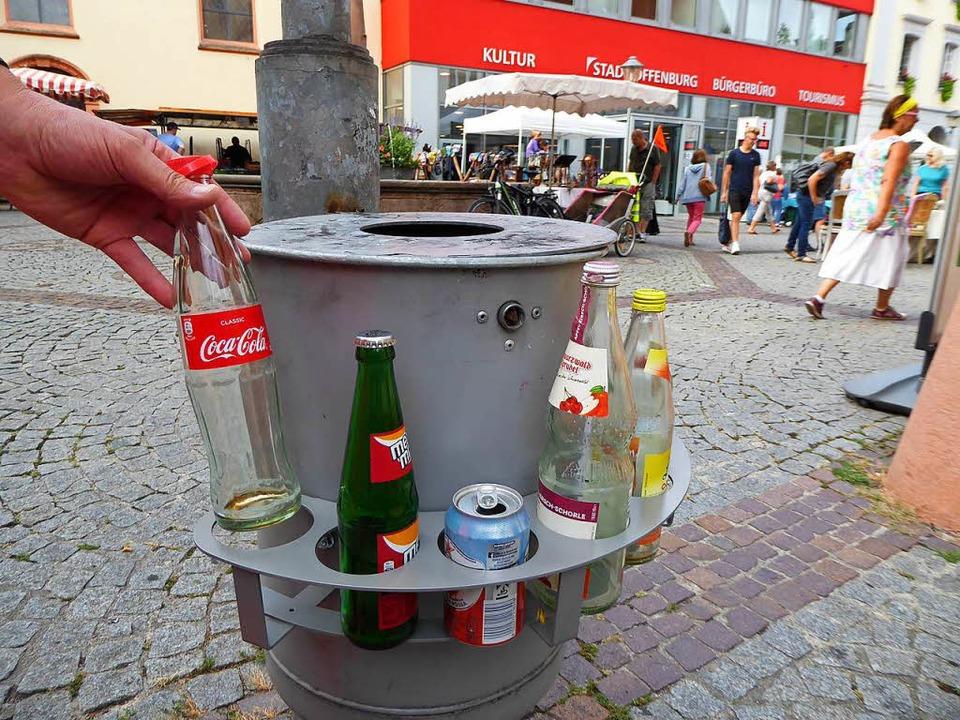 Diese Pfandringe werden jetzt in Offenburg getestet.  | Foto: Helmut Seller