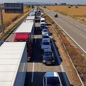 Autobahn war voll gesperrt