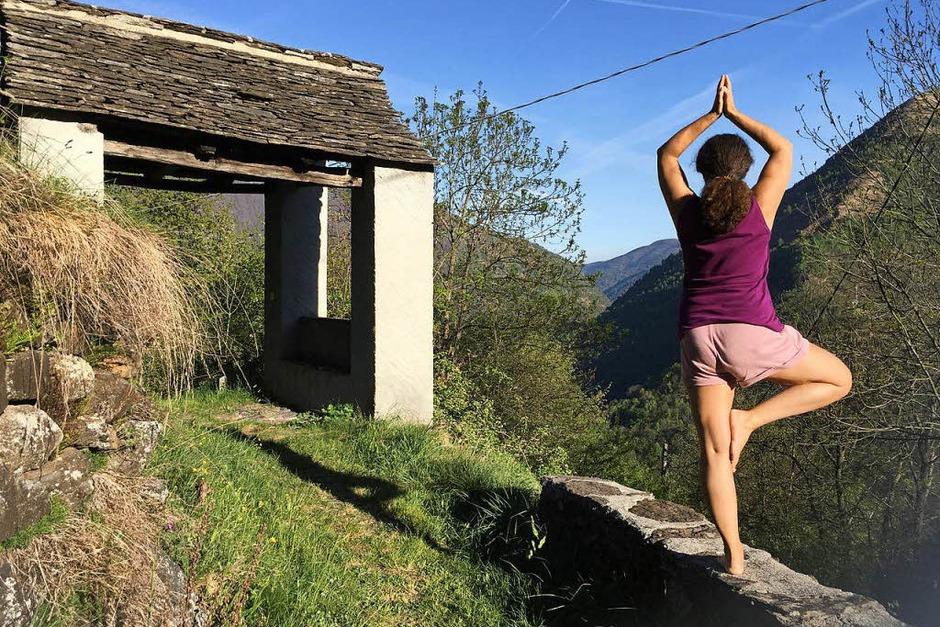 Verena Teuchert: Yoga, dieses Bild entstand im Piemont, Leben pur. (Foto: Verona Teuchert)