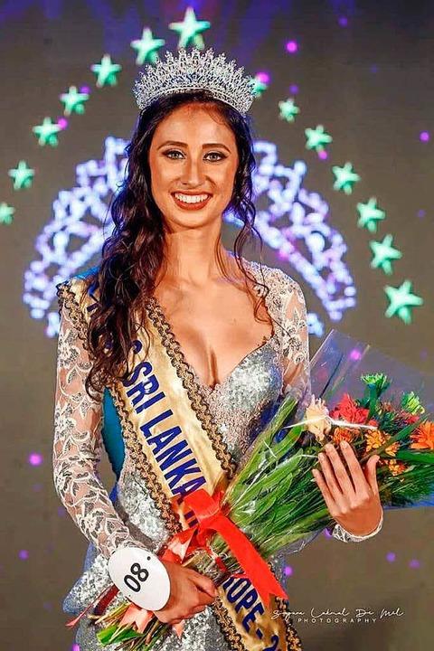 Linda Rose Kammerknecht nach ihrem Titelgewinn.  | Foto: ist Sagara Lakmal de Mel