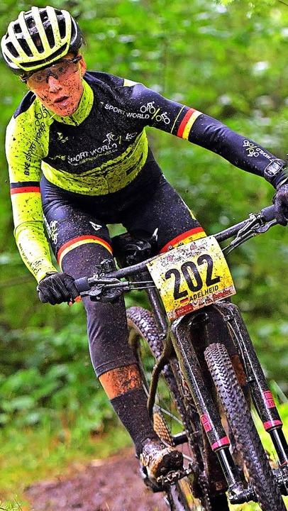 Nach viel Pech in dieser Saison endlic... Adelheid Morath führt beim Bike Giro.    Foto: Wolfgang Scheu