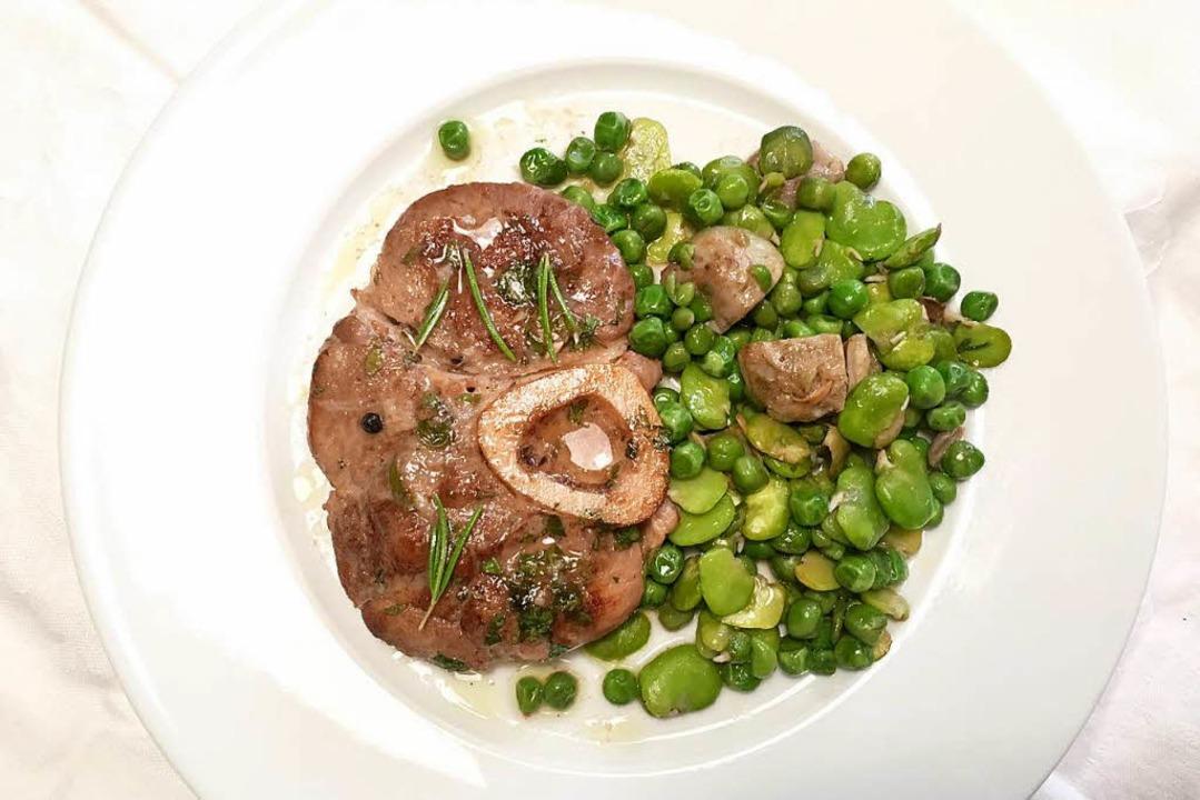 Knochen mit Loch: Ossobuco mit Gemüse .  | Foto: -