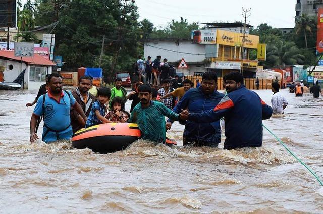 Regierung von Kerala spricht von der schlimmsten Flut seit 100 Jahren