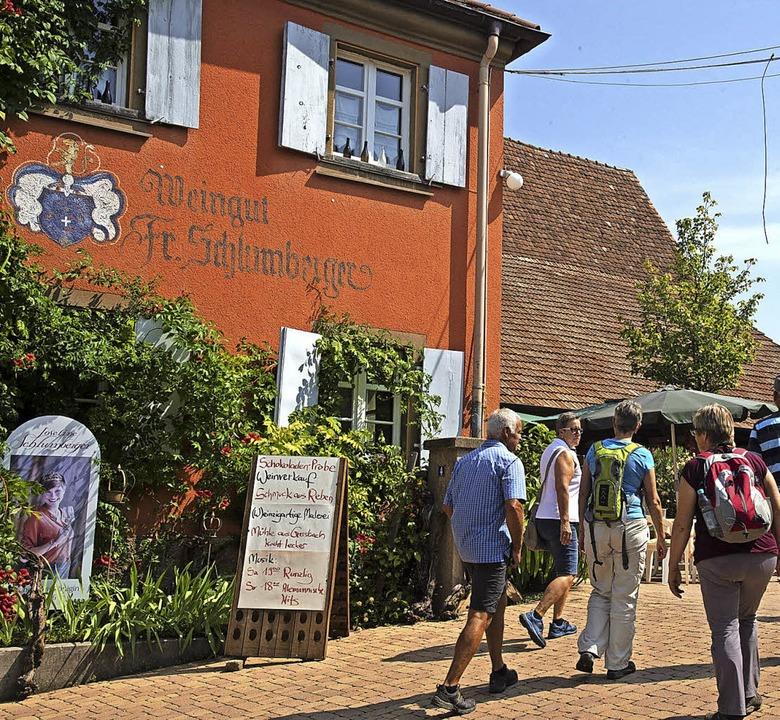 Malerische Winzerhöfe prägen Laufen un...cken wie rechts im Gretherhof gefragt.    Foto: Volker Münch