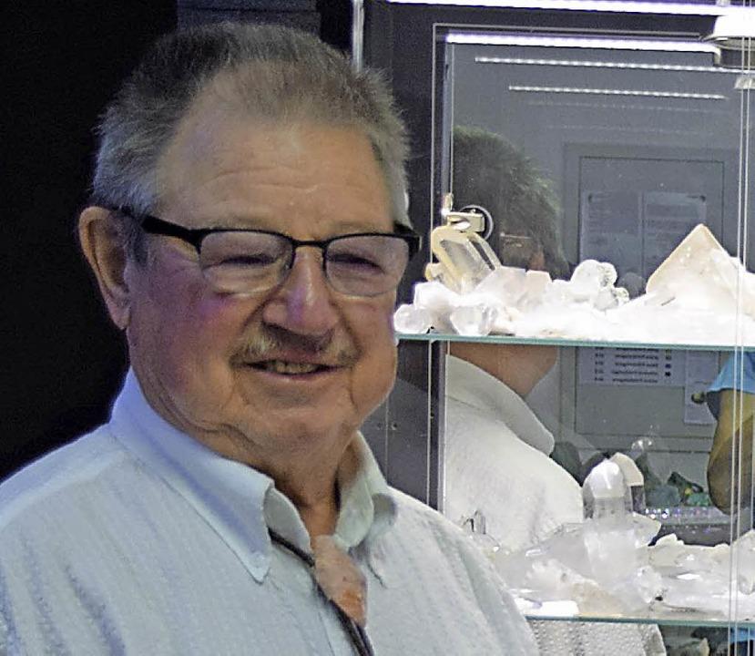 Peter Küttel ist passionierter Hobby Mineraloge.   | Foto: Evamarie Kurfess