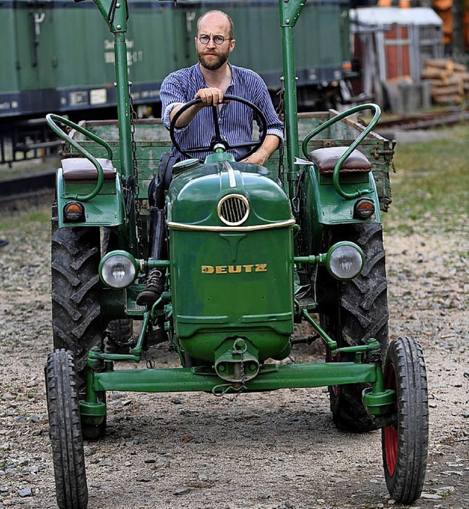 Historischer Deutz Traktor  | Foto: Wolfgang Scheu