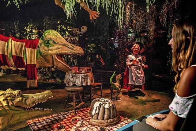 Putzige Dinos in Haus und Garten
