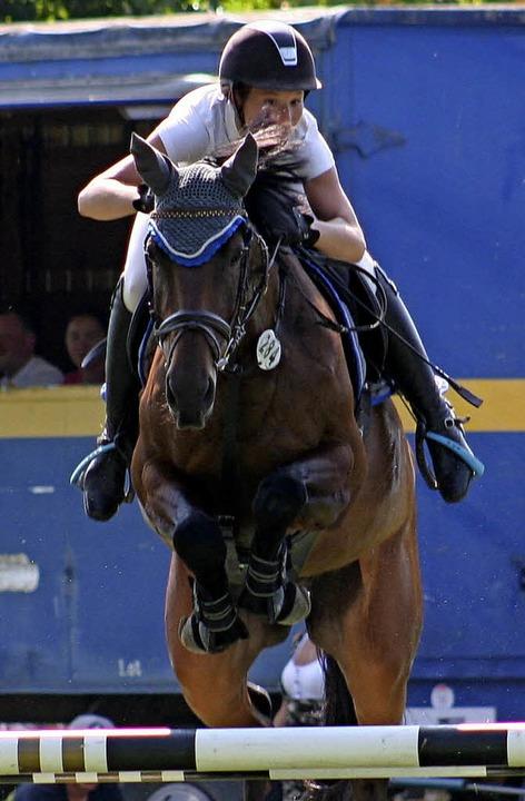 Nicole Schwarz, hier auf ihrer Nachwuc... Konkurrenz schier nicht aufzuhalten.   | Foto: Anita Birkenhöfer