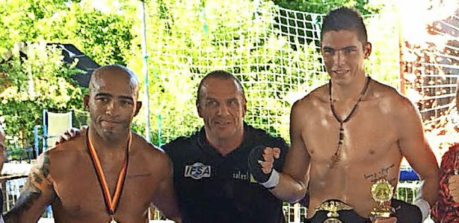 Rechts DM-Sieger Filip  Topic aus Hint...und links der Brasilianer Amicar Alves  | Foto: Dieter Maurer