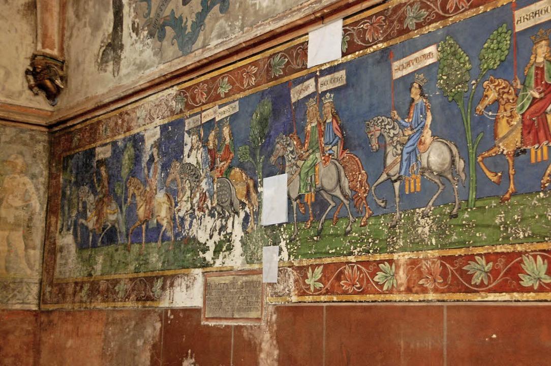Die Fresken im Innenraum drohen zerstört zu werden, wenn nichts geschieht.    Foto: Nückles
