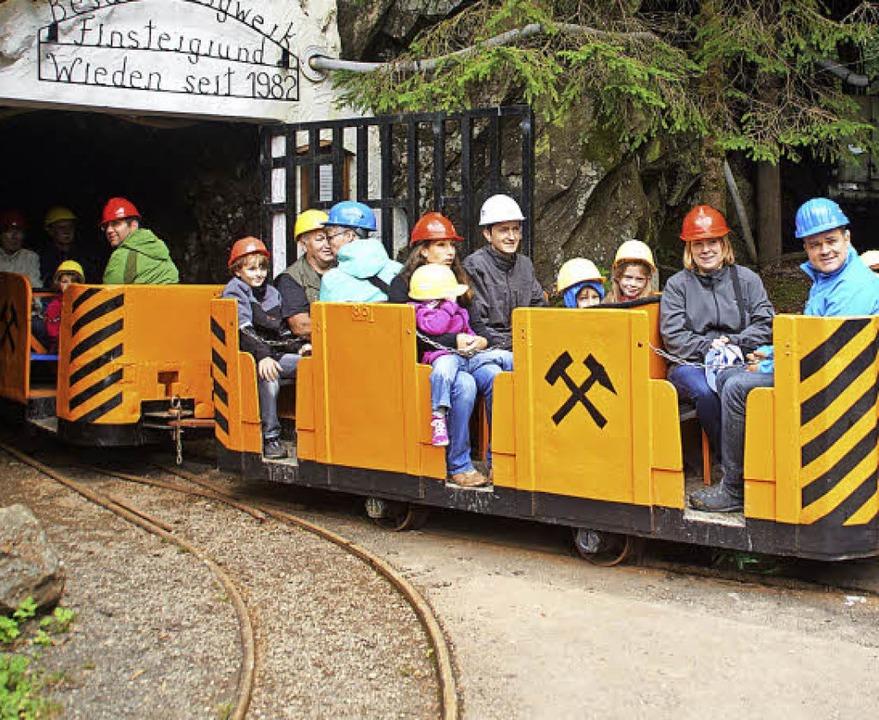 Einzigartig im Schwarzwald ist die Grubenbahn im Besucherbergwerk Finstergrund.   | Foto: Verena Wehrle